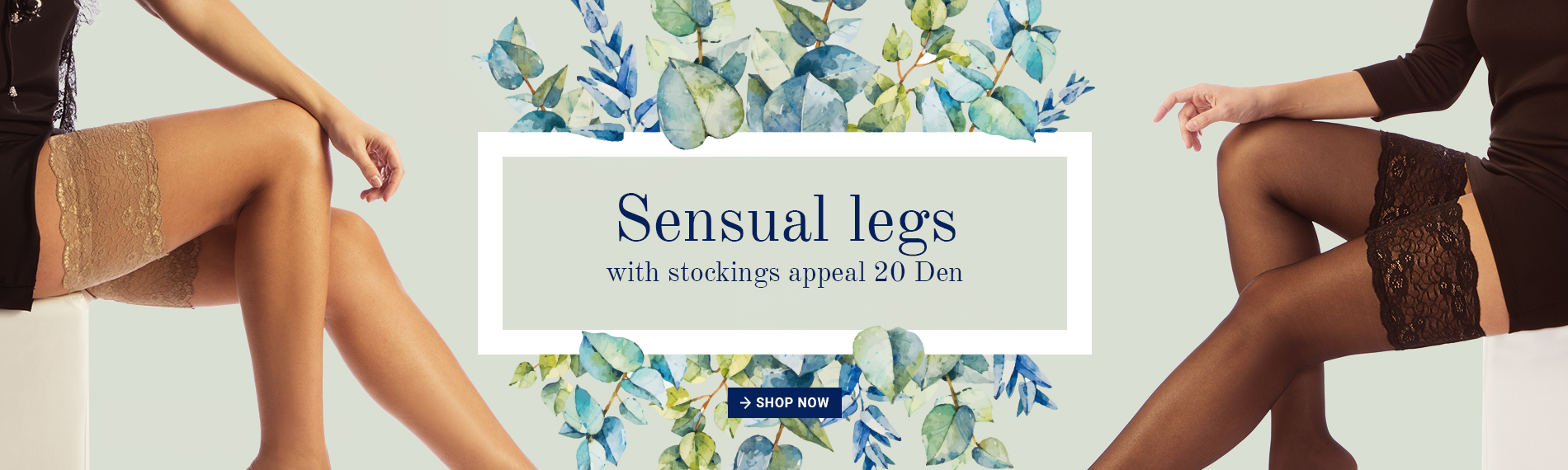 Sensual legs with stockings appeal 20 Den