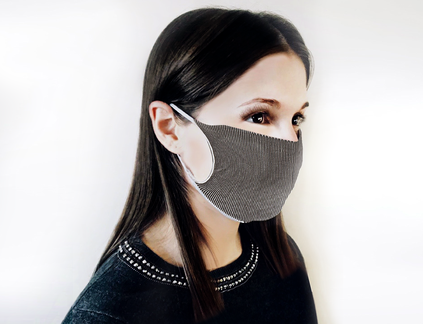 Drymask - righe bianco/nero